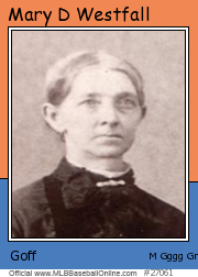 Mary Westfall Goff card