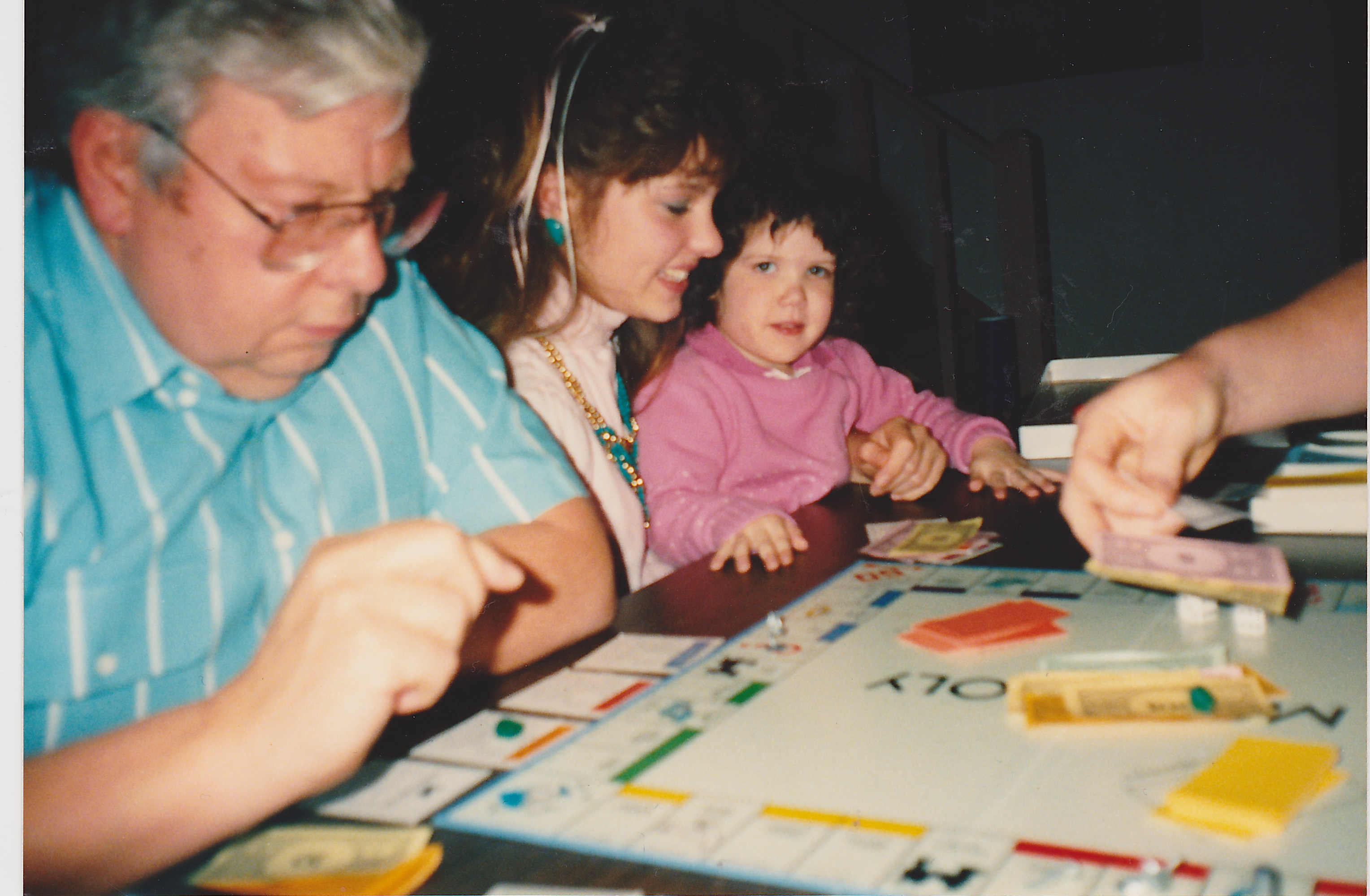 Thanksgiving 1990- (Probably the last time I played a full game of Monopoly)