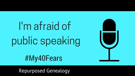 I'm afraid of public speaking